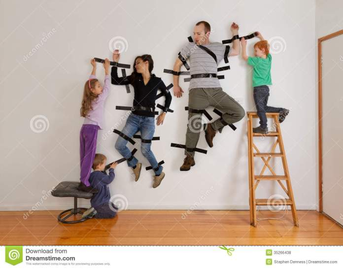 kids-teamwork-taping-parents-to-wall-working-together-tape-as-revenge-digitally-manipulated-35266438